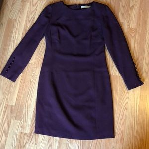 Ann Taylor plum color dress size 10